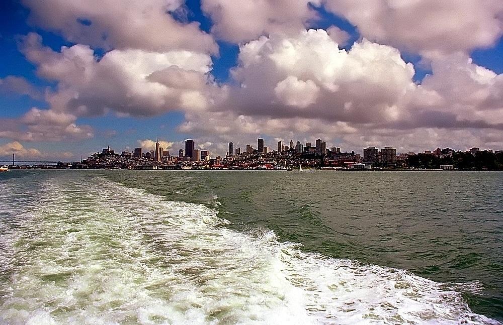 Cumulus clouds San Francisco