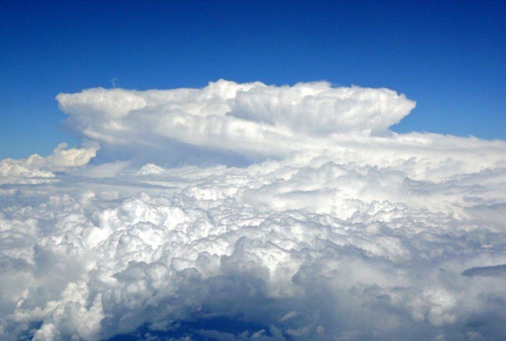 White clouds - cumulonimbus