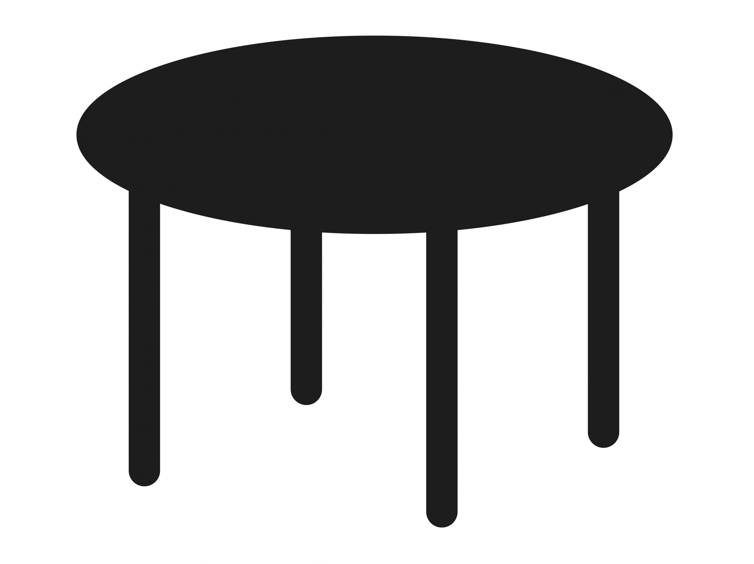 Round table with 4 legs