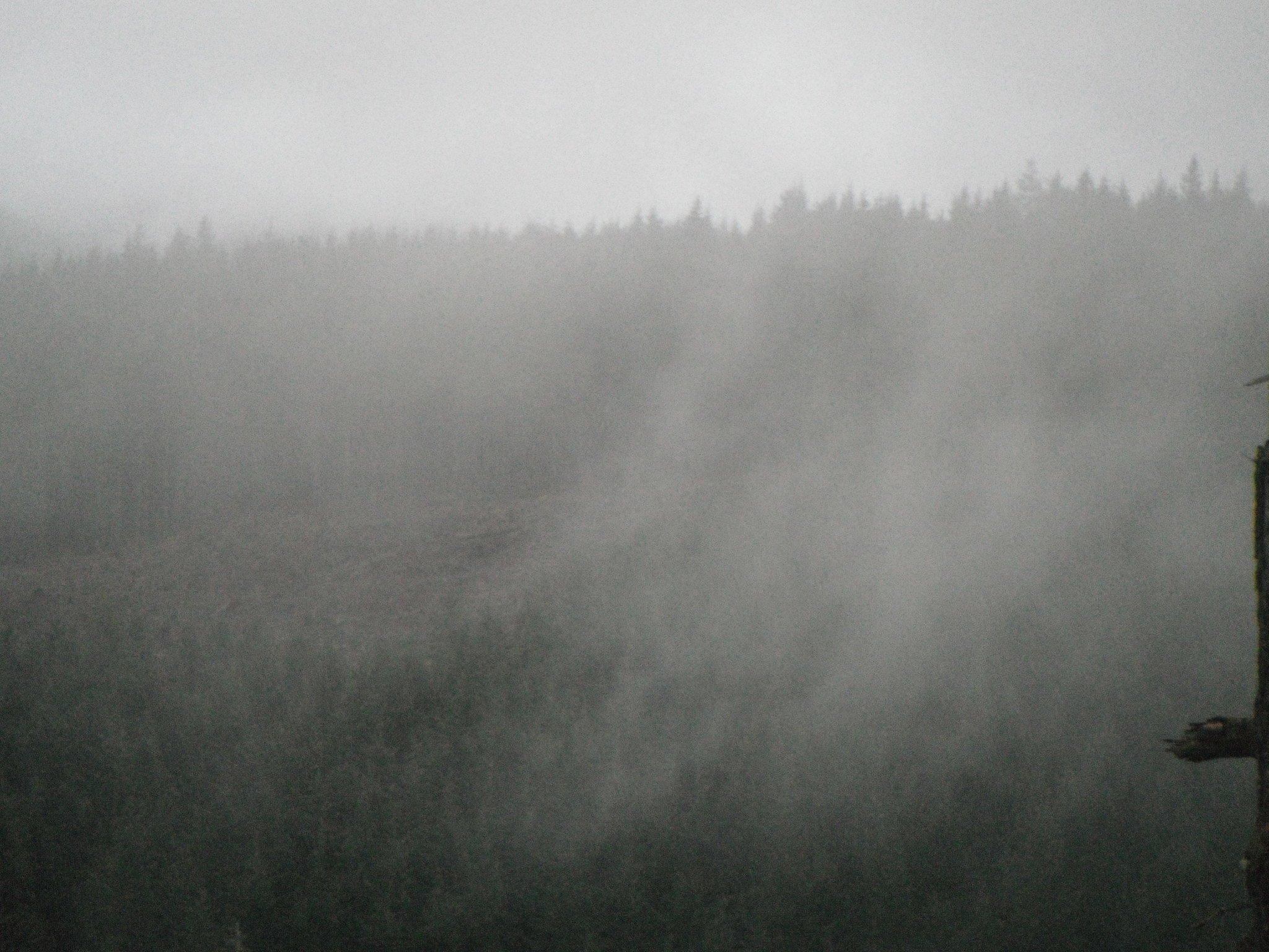 fog over the mountainside