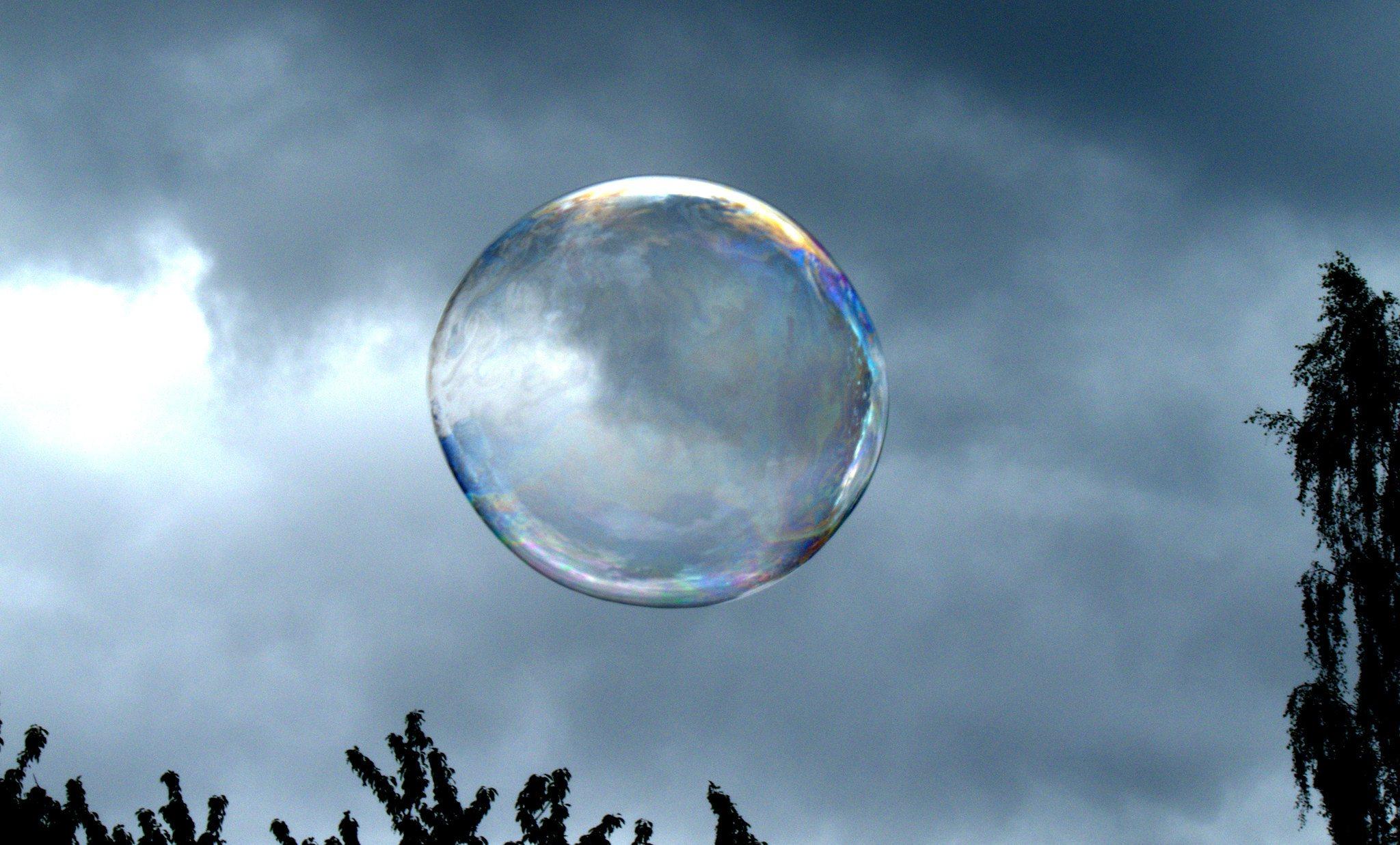 Huge soap bubble