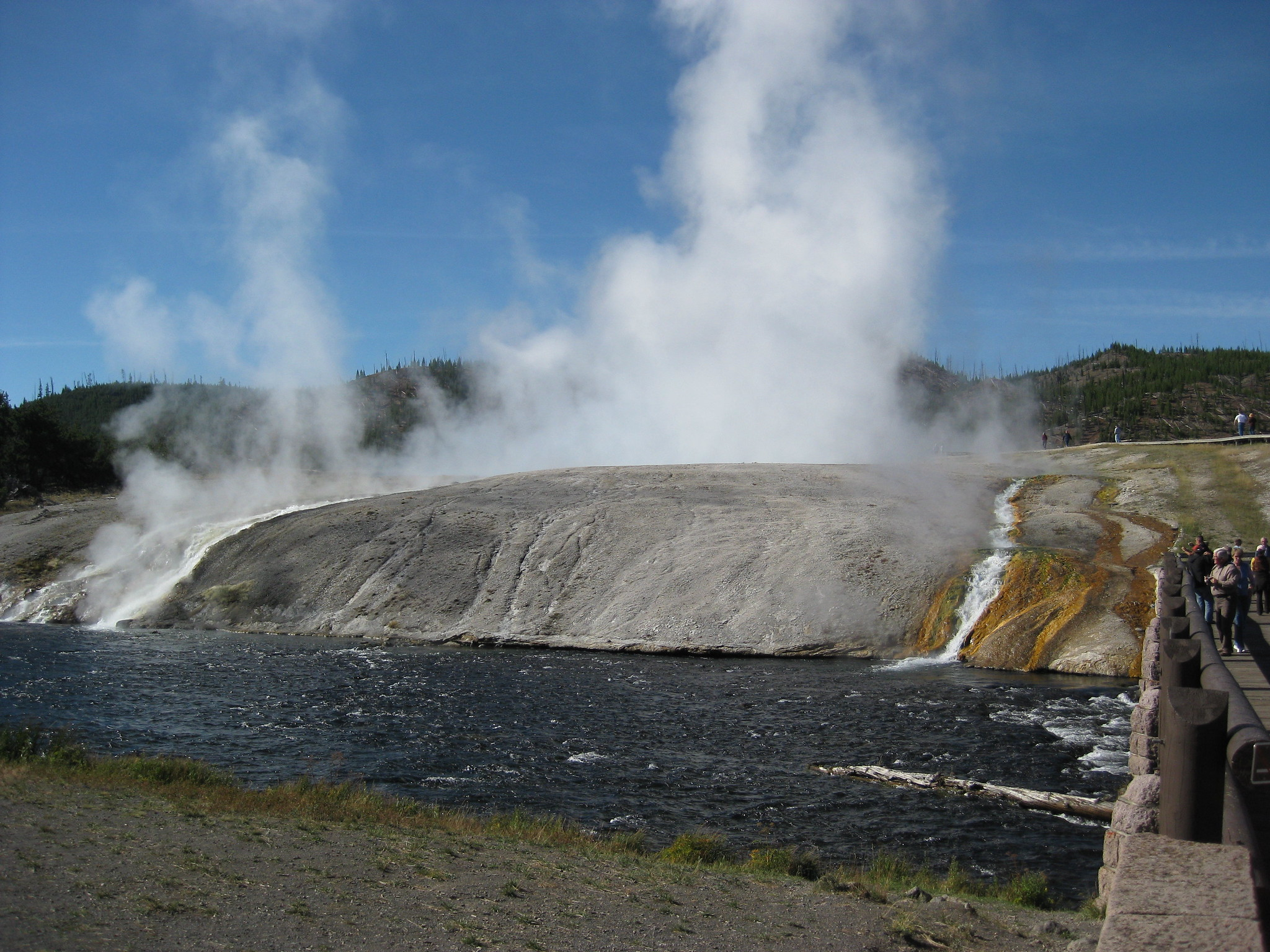 Boiling water from Geyser