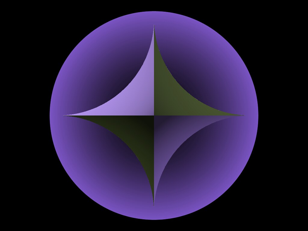 Hyperbolic octahedron