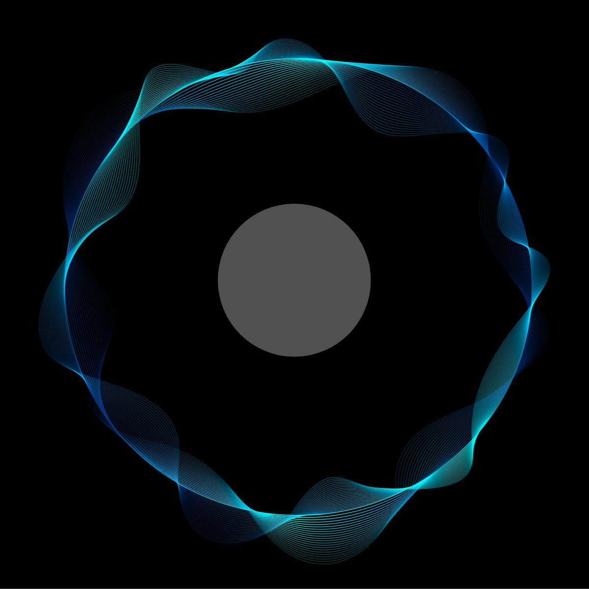 Electron wave/nucleus