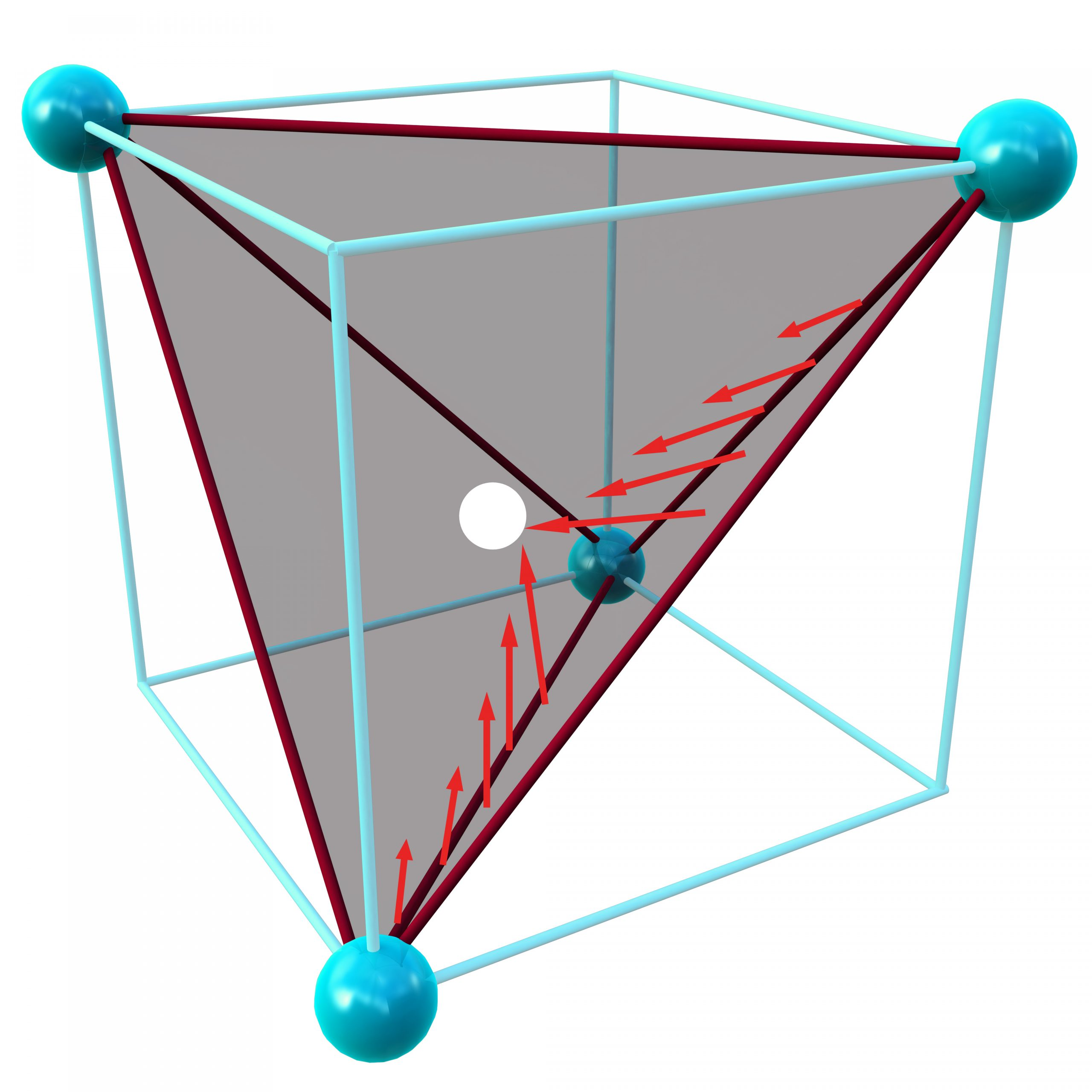 A tetrahedral plane of electrons