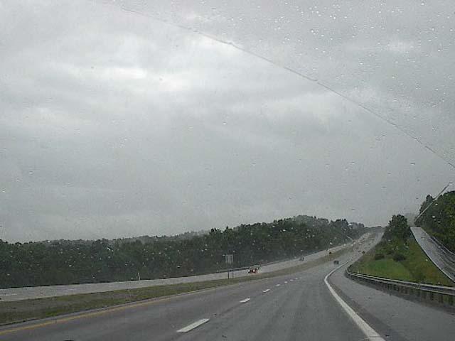nimbostratus with rain